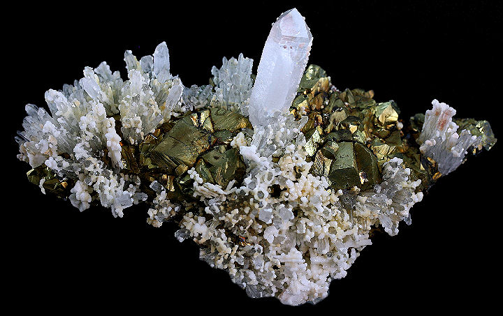 Chalcopyrite Quartz and Calcite