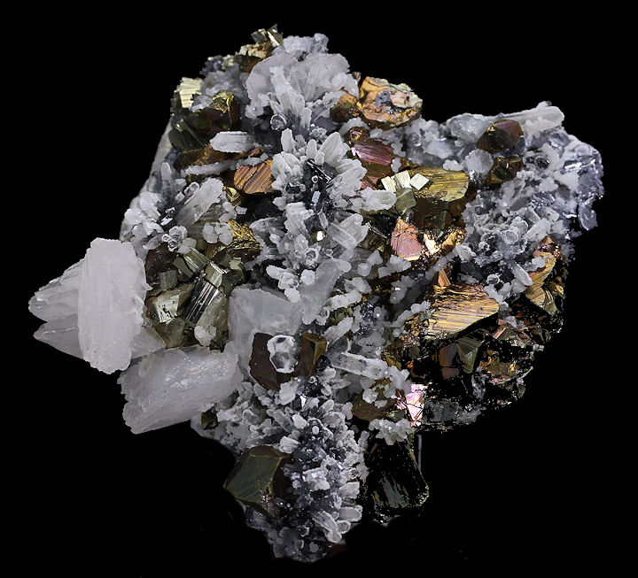 Calcite & Chalcopyrite with Quartz