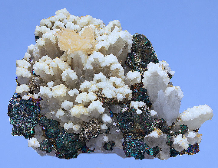 Chalcopyrite Quartz Calcite and Quartz