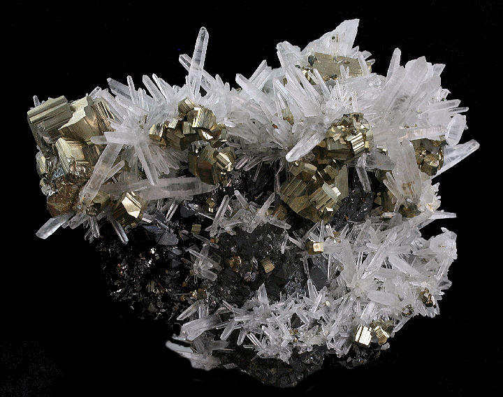 Pyrite Sphalerite and Quartz