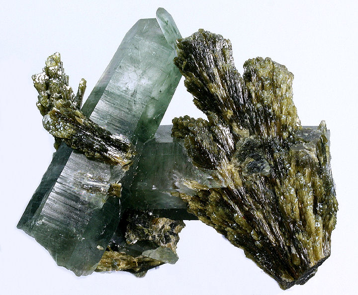 Green Quartz with Epidote