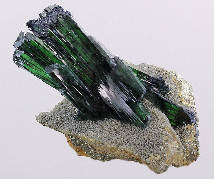 Vivianite Crystal Cluster on Quartz Matrix