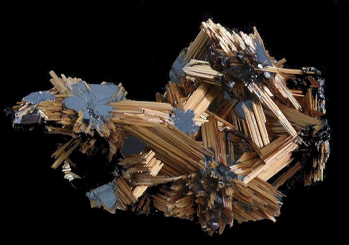 Rutile Crystals on Hematite