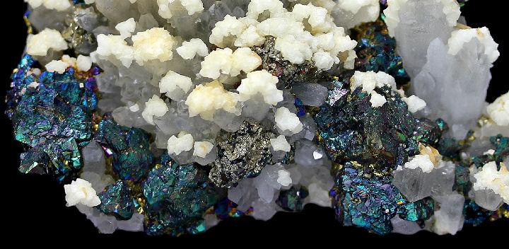 Chalcopyrite Quartz Calcite and Quartz