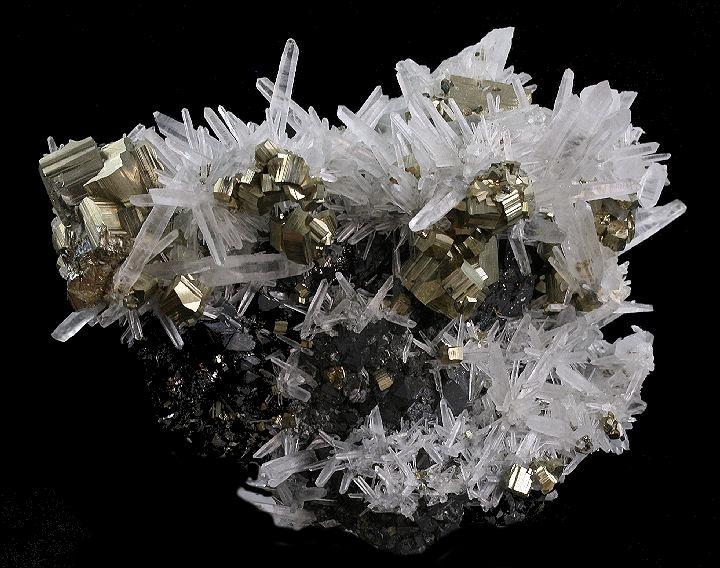 Pyrite Sphalerite and Quartz