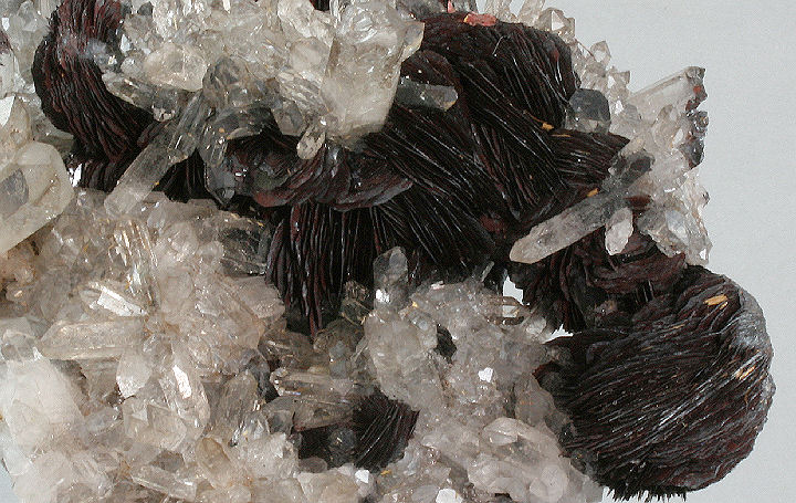 Quartz Crystals with Hematite Rosettes
